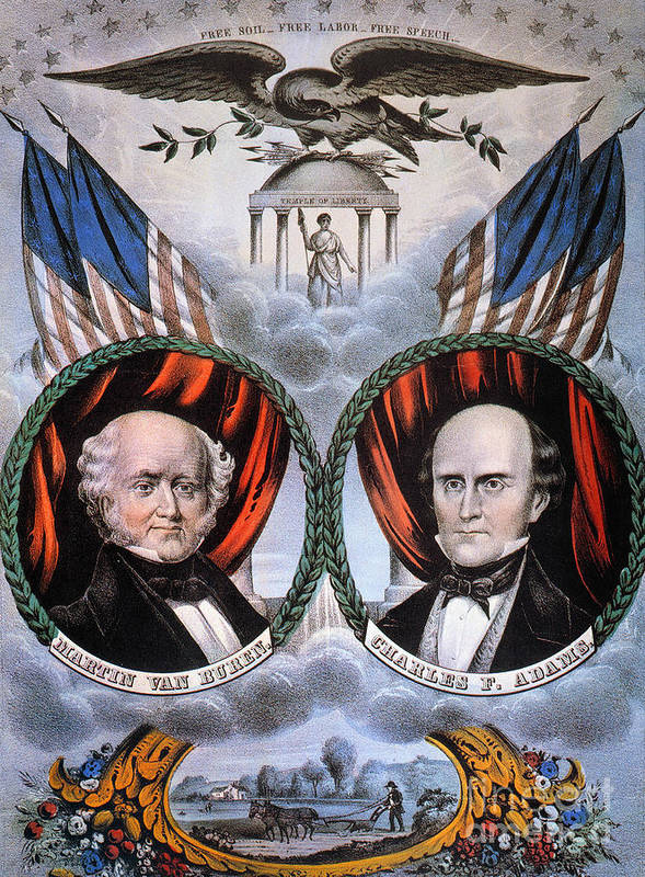 1848 Poster featuring the photograph Presidential Campaign, 1848 by Granger