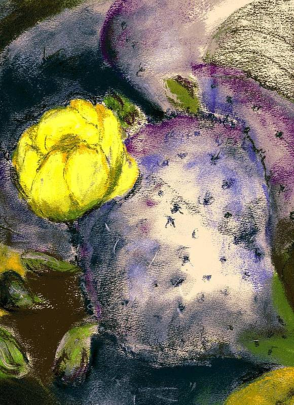 Cactus Poster featuring the painting Prickly Pear by Marilyn Barton