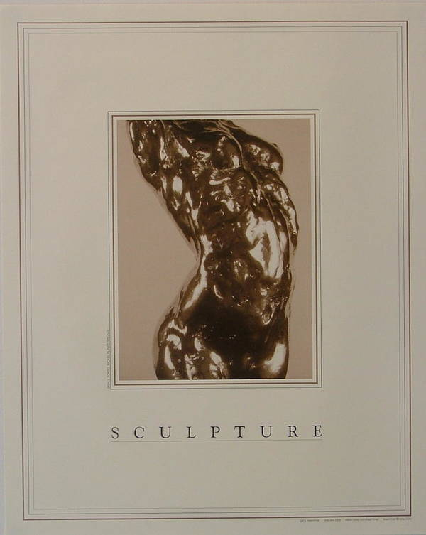 Female Nude Poster featuring the painting Print Of Sculpture By The Artist by Gary Kaemmer