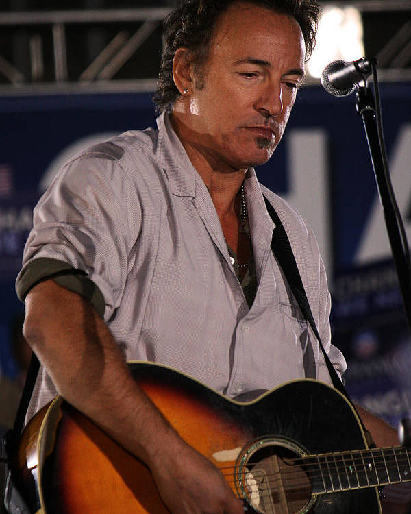 Bruce Springsteen Poster featuring the photograph Promised Land by Brian M Lumley
