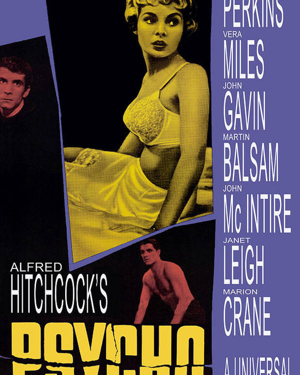 1960 Movies Poster featuring the photograph Psycho, Anthony Perkins, Janet Leigh by Everett