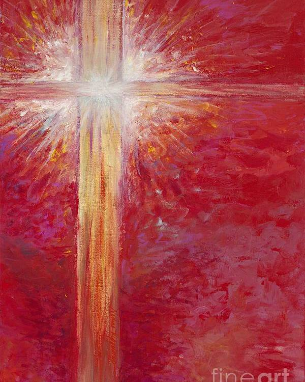 Light Poster featuring the painting Pure Light by Nadine Rippelmeyer