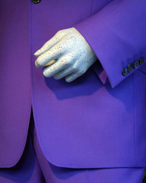 Jez C Self Poster featuring the photograph Purple Hand Purple Hand by Jez C Self