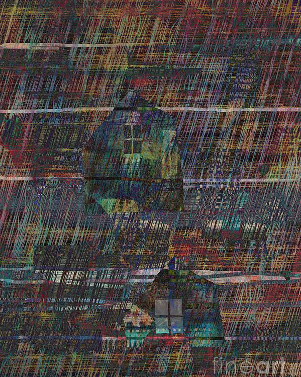 Rain Poster featuring the digital art Purple Rain by Andy Mercer
