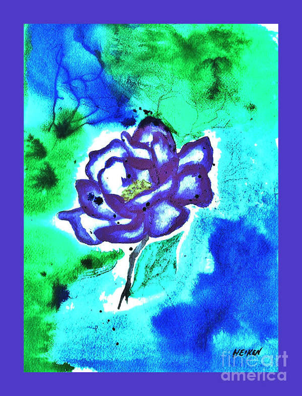 Painted Poster featuring the painting Purple Rose by Marsha Heiken