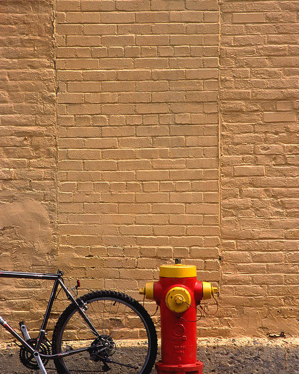 Bicycle Poster featuring the photograph Quebec Hydrant by Art Ferrier