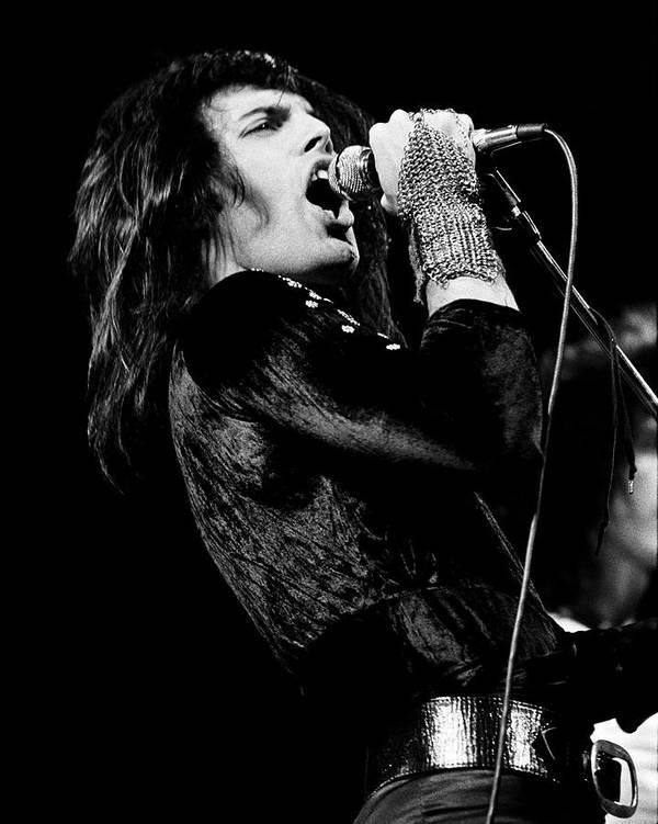 3da73e9e282f87 Queen - Freddie Mercury 1974 Poster by Chris Walter