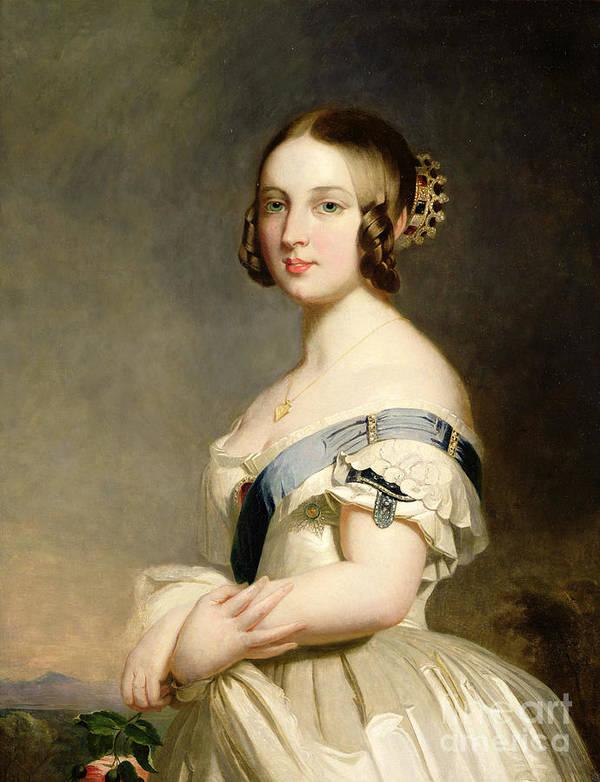 Queen Poster featuring the painting Queen Victoria by Franz Xavier Winterhalter