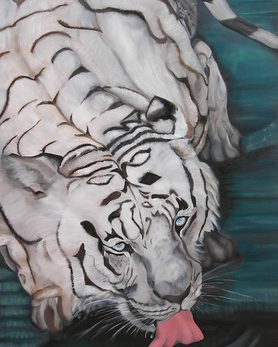Tiger Poster featuring the painting Quidado by Alessia Orlandi