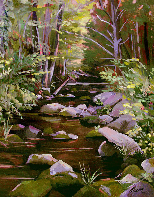 Peoples State Forest Poster featuring the painting Quiet Brook by Nancy Griswold