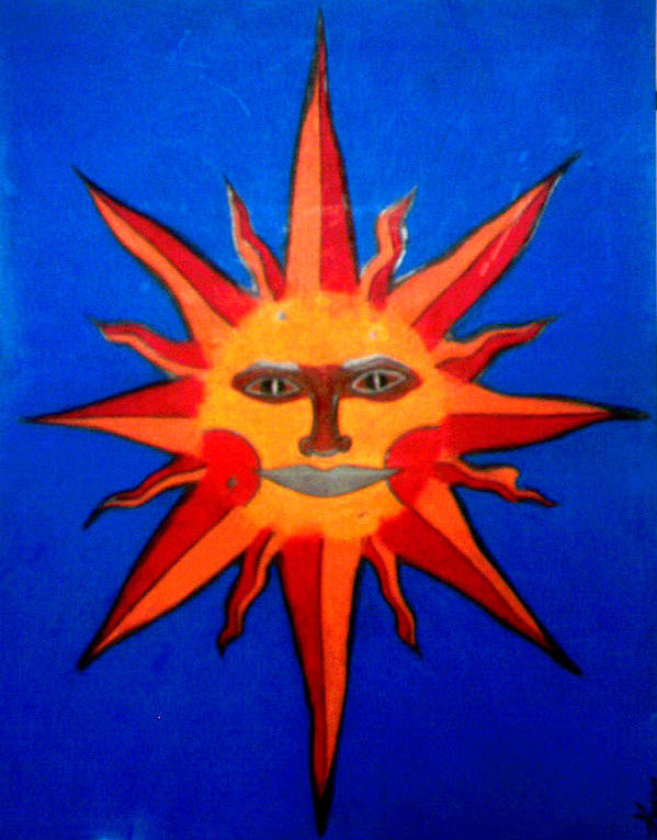 Sun Poster featuring the drawing Radiance by Tara Kearce