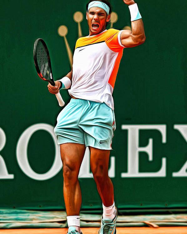 Rafael Nadal Poster By Mounir Meghaoui