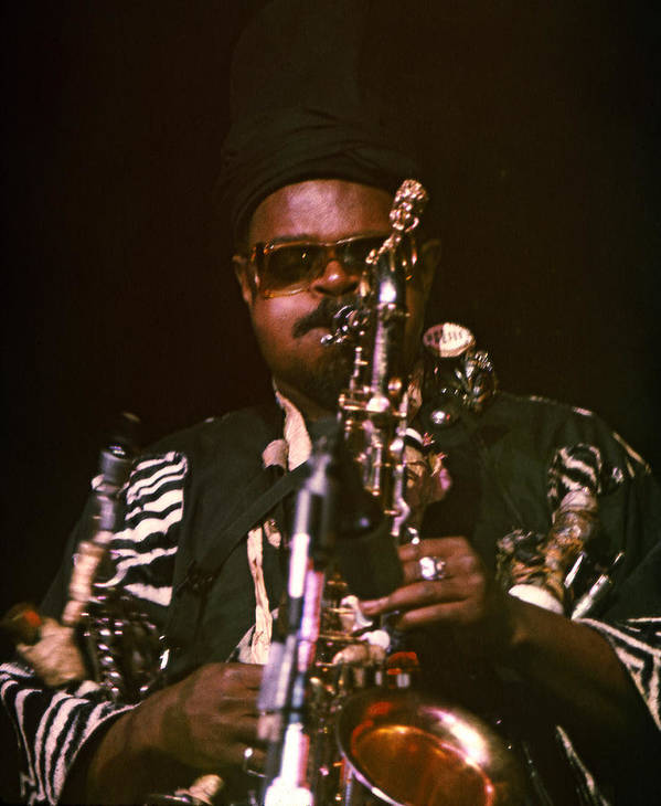 Rahsaan Roland Kirk Poster featuring the photograph Rahsaan Roland Kirk 3 by Lee Santa