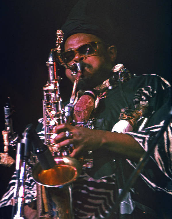 Rahsaan Roland Kirk Poster featuring the photograph Rahsaan Roland Kirk 4 by Lee Santa