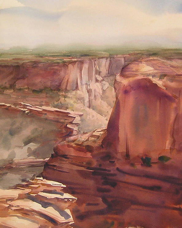 Canyon Poster featuring the painting Rain And Shine by Frank LaLumia