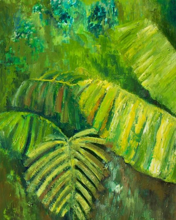 Rain Forest Poster featuring the painting Rain Forest by Carol P Kingsley
