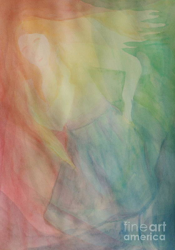 Rainbow Poster featuring the painting Rainbow Dancer by Nicole Besack