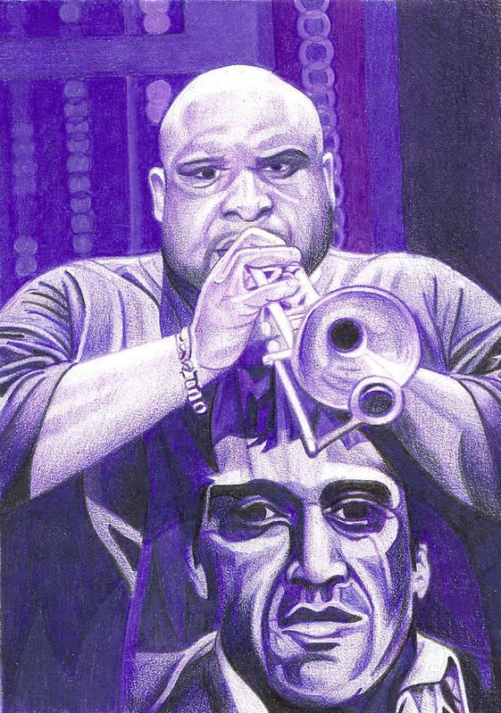 Rashawn Ross Poster featuring the drawing Rashawn Ross by Joshua Morton