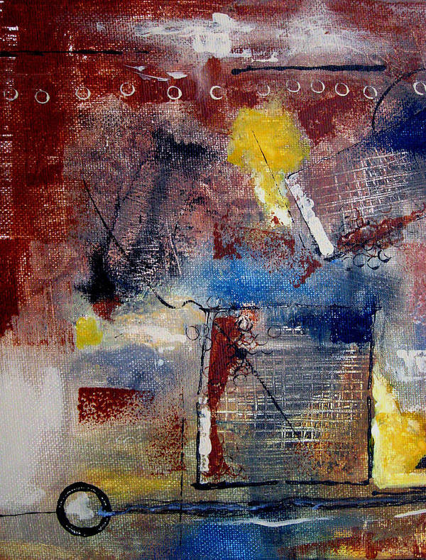 Abstract Poster featuring the painting Raw Emotions II by Ruth Palmer