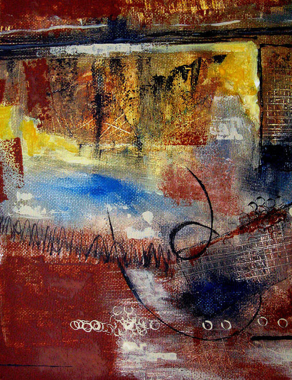 Abstract Poster featuring the painting Raw Emotions by Ruth Palmer