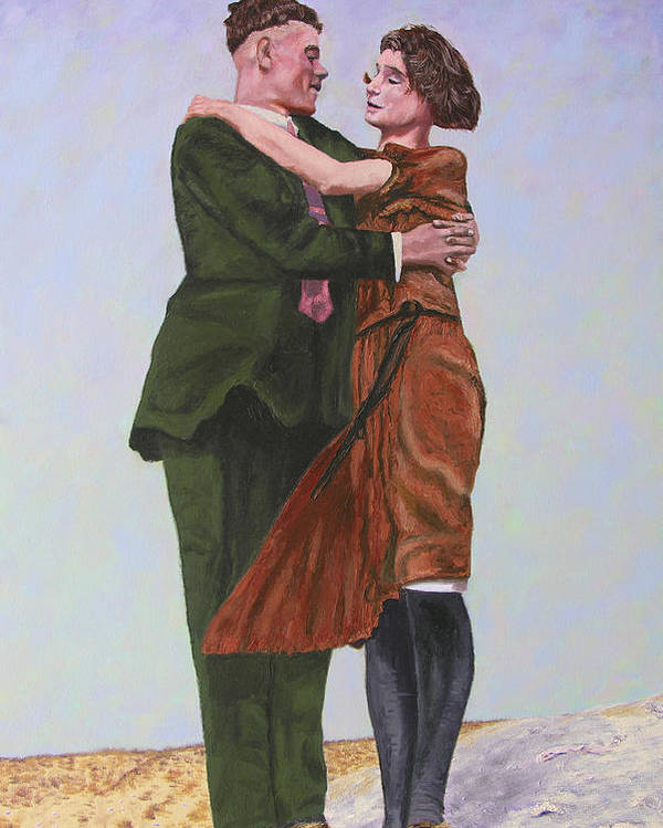 Double Portrait Poster featuring the painting Ray And Isabel by Stan Hamilton