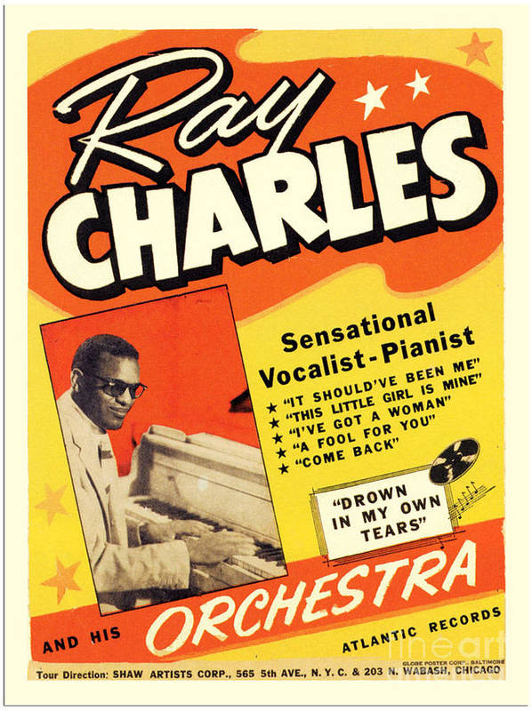 ray charles rock n roll concert poster 1950s poster by r muirhead art