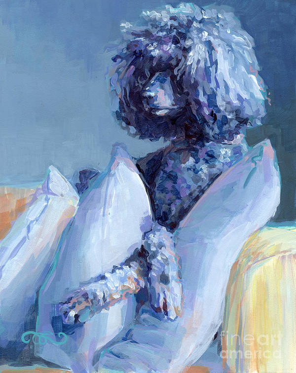 Black Dog Poster featuring the painting Ready For Her Closeup by Kimberly Santini