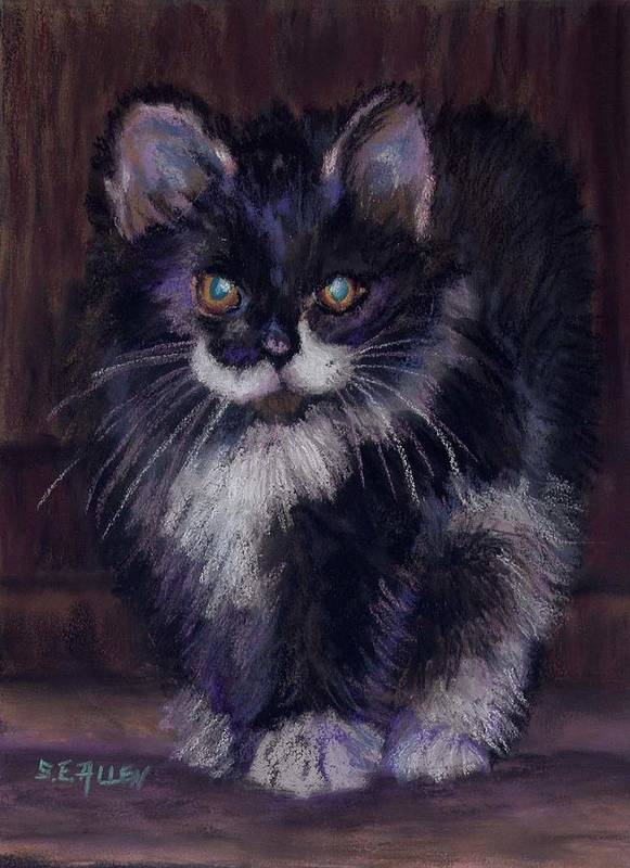 Kitten Poster featuring the painting Ready For Trouble by Sharon E Allen