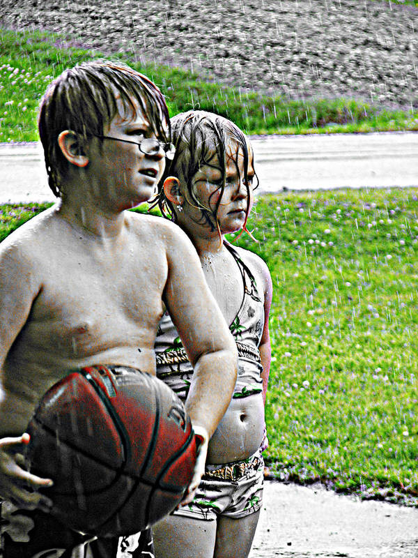 Family Basketball Poster featuring the photograph Ready To Rumble by Trisha Scrivner