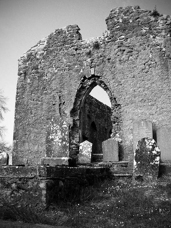 Ireland Poster featuring the photograph Rear Entrance Fuerty Church Roscommon Ireland by Teresa Mucha