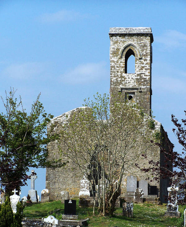 Fuerty Poster featuring the photograph Rear View Fuerty Church And Cemetery Roscommon Ireland by Teresa Mucha