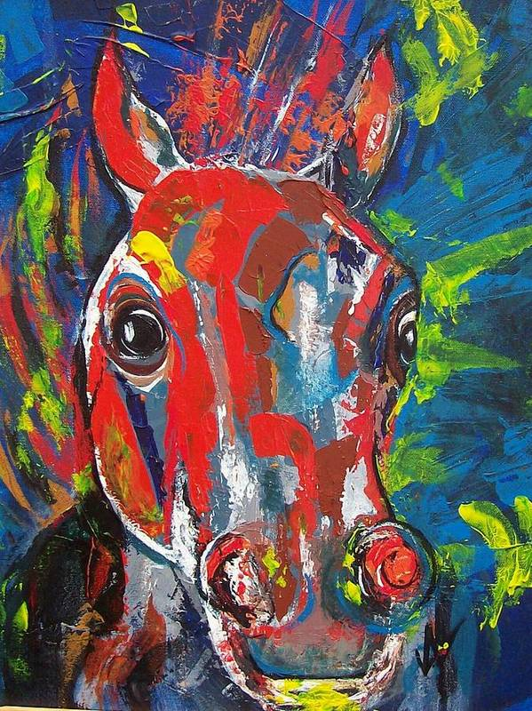 Horse Poster featuring the painting Rebel by Valerie Wolf