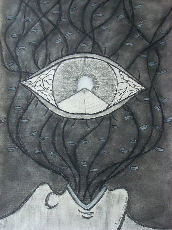 Eyes Poster featuring the drawing Rebirth by Marsha Ferguson