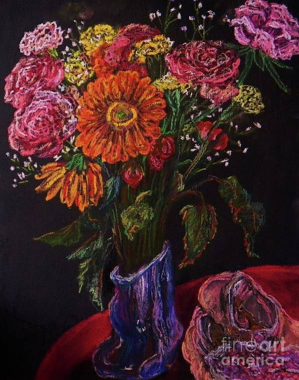 Flowers Poster featuring the pastel Recital Bouquet by Emily Michaud