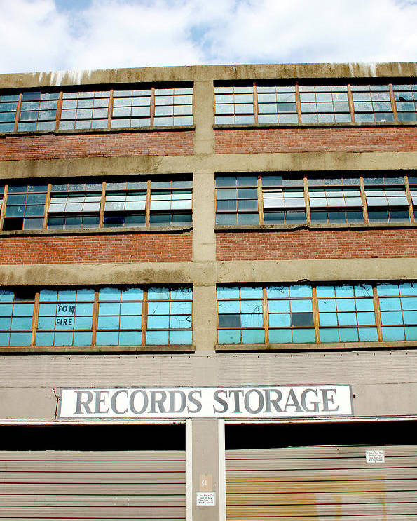 Records Storage Poster featuring the photograph Records Storage- Nashville Photography By Linda Woods by Linda Woods