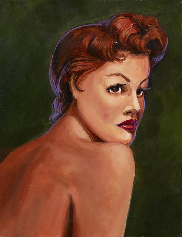 Decor Poster featuring the painting Red Head by Hank Wilhite