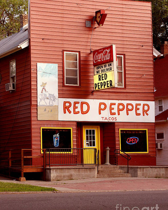 Redpepper Poster featuring the photograph Red Pepper Restaurant by Steve Augustin