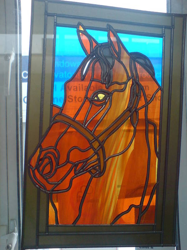 Horse Poster featuring the glass art Red Rum by Robin Jeffcoate