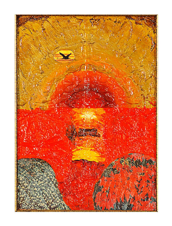 Seascape Poster featuring the painting Red Sea by Howard Goldberg