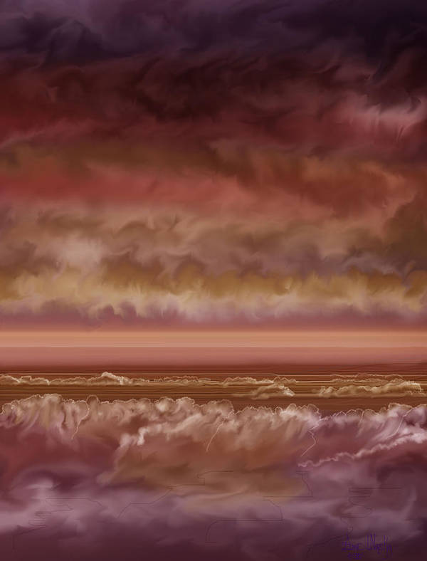 Sunset Poster featuring the painting Red Sky At Night Sailor Delight by Anne Norskog