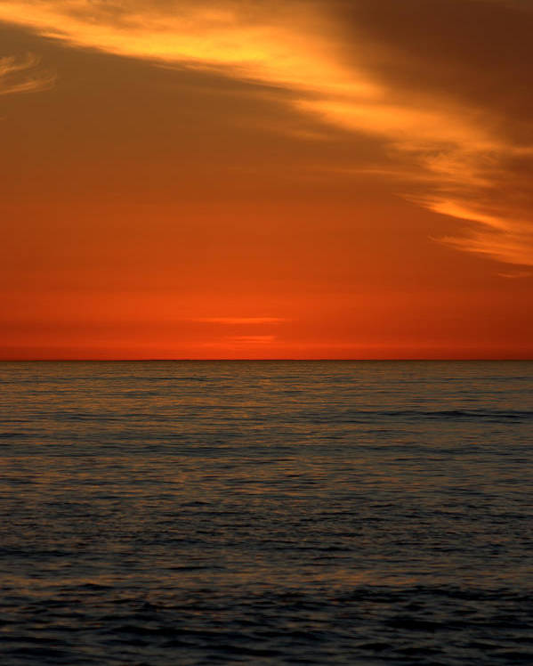 Sunset Poster featuring the photograph Red Sunset by Brad Scott