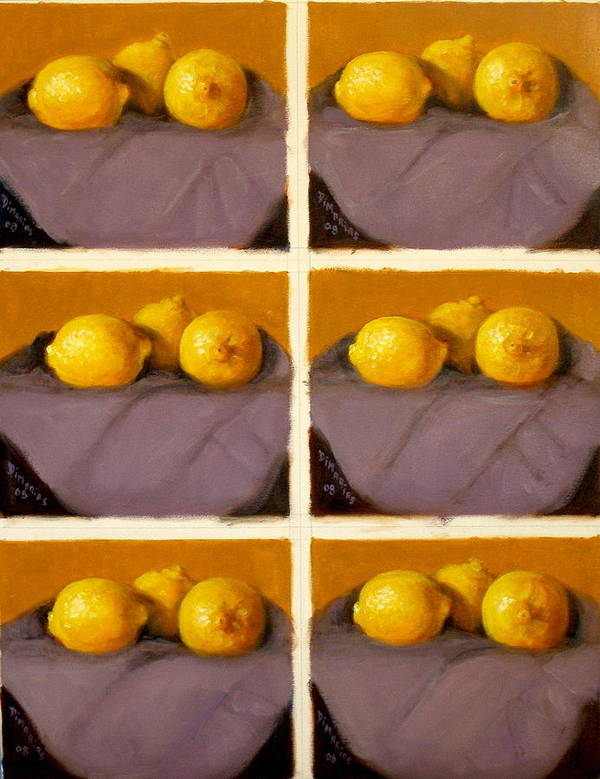 Realism Poster featuring the painting Redundant Lemons by Donelli DiMaria