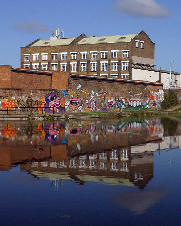 Jez C Self Poster featuring the photograph Refective Canal 2 by Jez C Self
