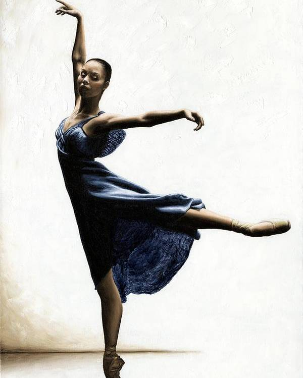 Dancer Poster featuring the painting Refined Grace by Richard Young