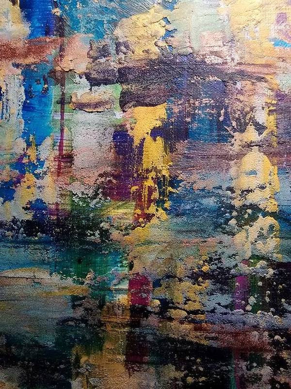 Abstract Poster featuring the painting Reflection by Erika Profit