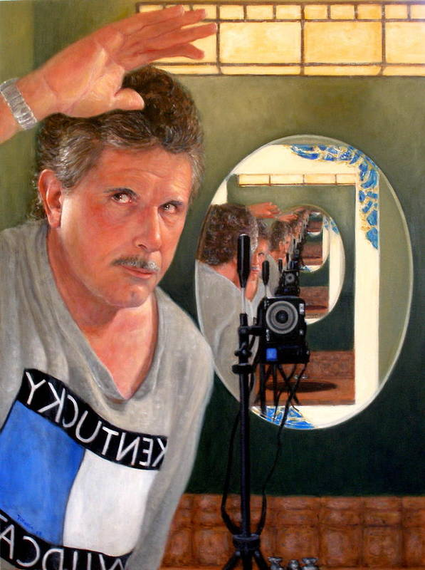 Realism Poster featuring the painting Reflection Of Infinity by Donelli DiMaria