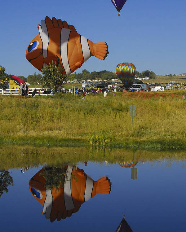 Balloon Poster featuring the photograph Reflections Of Flounder by Owen Ashurst