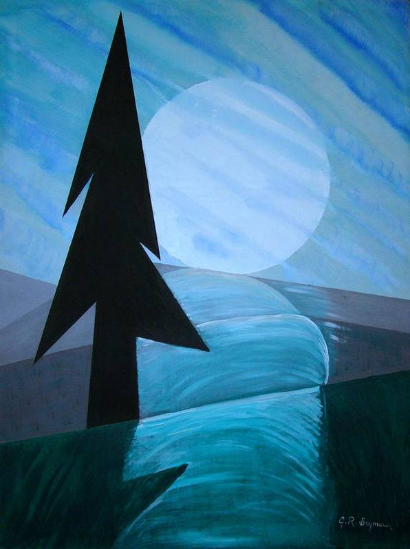Phases Of The Moon Poster featuring the painting Reflections On The Day by J R Seymour