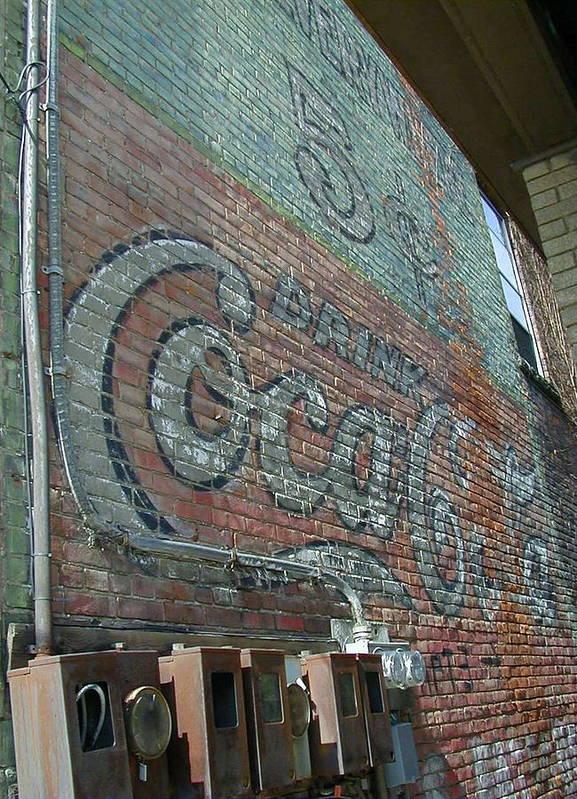 Coca Cola Poster featuring the photograph Refreshing Coca Cola by Paula Gantar