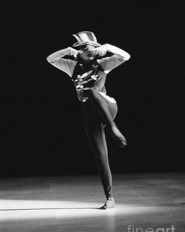 Photo Poster featuring the photograph Regine Chopinot Dance Solo by Philippe Taka